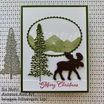 By Su Mohr for TGIF; Click aromasandart.com to go to my blog for details! Featuring: Moose Punch, Mountain Air Bundle, Majestic Mountain Dies, Mountain Air Stamp Set, Layering Ovals Dies; #christmascards #holidaycards #holiday2020 #stampinup #mooseoncards #retiringproducts #handmadecards #handcrafted #diy #cardmaking #papercrafting #cardchallenges #treesoncards