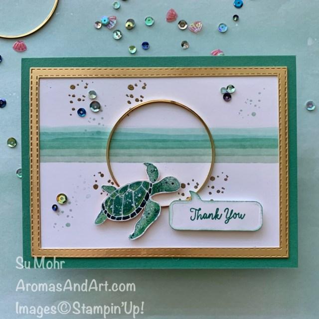 Sea Turtle Thank You Card