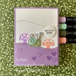 By Su Mohr for Fab Fri; Click aromasandart to go to my web site for details! Featuring: Snail Dies, Snailed It Stamp Set, Curvy Dies, Tasteful Textile embossing, Stampin