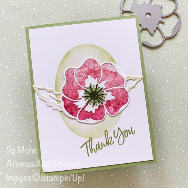 By Su Mohr for PP; Click aromasandart to go to my web site for details! Featuring: Poppy Moments Dies, Sweet Ice Cream Stamp Set, Sand & Sea Designer Paper, Layering Ovals Dies; #poppymoments #sand&sea #sweeticecream #thankyoucards #stenciling #cardtechniques #aromasandart #sumojhr #handmadecards #handcrafted #diy #cardmaking #papercrafting #cardsketches