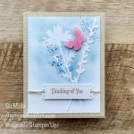 By Su Mohr for PP; Click aromasandart to go to my web site for details! Featuring: Quiet Meadow, Meadow Dies, stenciling, Mini Stampin