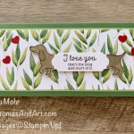 By Su Mohr for TGIF; Hot Dog Stamp Set, Forever Greenery designer paper, Ornate Frames Dies, Dog Punch; #hotdogstampset #hotdogs #weinerdogs #doxies #slimlinecards #dogpunch #dogsoncards #handmadecards #handcrafted #diy #cardmaking #papercrafting #humorouscards #sumohr #aromasandart