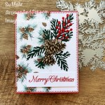 By Su Mohr for FMS; Click aromasandart.com to go to my blog for details! Featuring: Painted Christmas Designer Paper, Christmas Pinecone Dies, Ornate layers Dies, Poinsettia Petals Stamp Set, Poinsettia Dies; #pinecones #paintedchristmas #ornatelayers #cardsketches #christmascards #holidaycards #holiday2021 #handmadecards #handcrafted #diy #cardmaking #papercrafting #sumohr #aromasandart.com/shop #stamping #stampinup