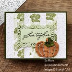 By Su Mohr for TGIF; Click aromasandart.com to go to my website for details! Featuring: Pretty Pumpkins Stamp Set, Detailed Pumpkins Dies, Cork Paper, Stitched Greenery Die, Ornate layers Dies; #thanksgivingcards #stitchedgreenery #prettypumpkins #detailedpumpkins #pumpkinsoncards #handmadecards #handcrafted #diy #cardmaking #papercrafting #cardsketches #cardinstruction #sumohr #aromasandart.com/shop #stamping #stampinup