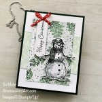 By Su Mohr for FMS; Click aromasandart.com to go to my website for details! Featuring, Snow Wonder Stamp Set, Snow Time Dies, Painted Christmas Designer Paper, Stitched Rectangles Dies, Playful Pets Trim; #snowwonder #snowtime #snowman #snowmenoncards #christmascards #holidaycards #holiday2021 #cardsketches #handmadecards #papercrafting #cardmaking #handcrafted #diy #sumohr #aromasandart.com/shop #cardchallenges