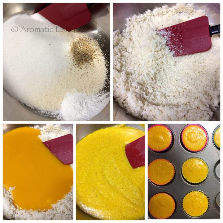 pictorial to make mango semolina cupcakes