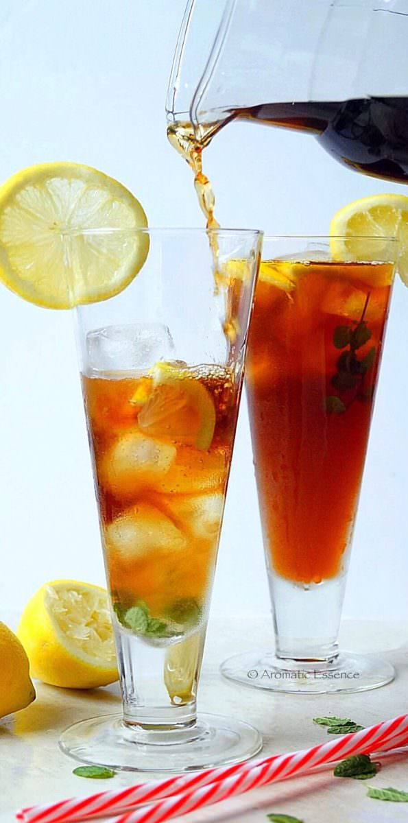 Lemon Iced Tea Recipe How To Make Lemon Iced Tea Aromatic Essence