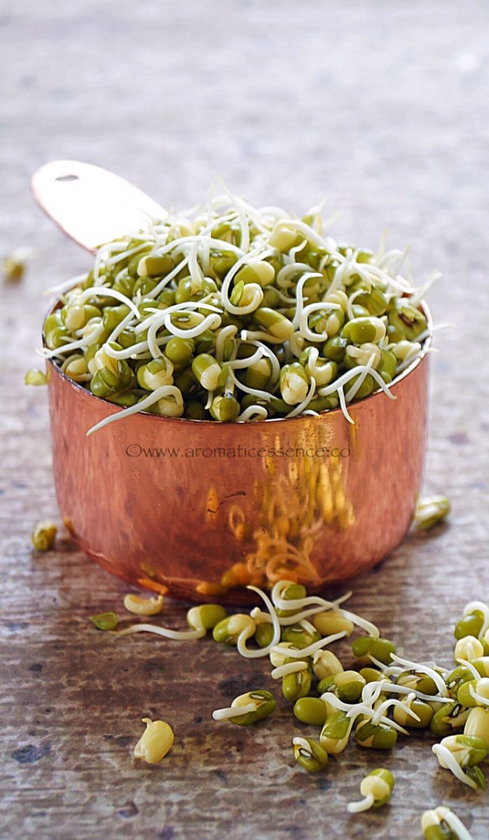 Mung sprouts and paneer pulao/pilaf - Aromatic Essence