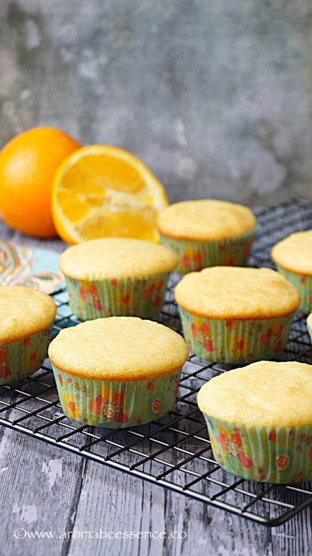baked orange cupcakes