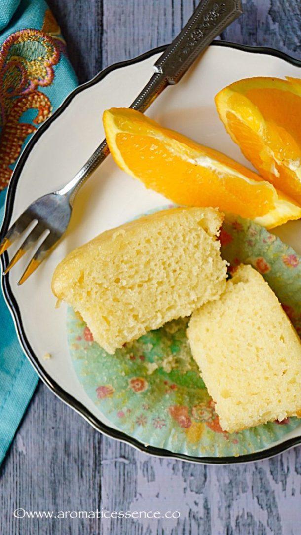 Eggless Orange Cupcakes   Orange Cupcake Recipe