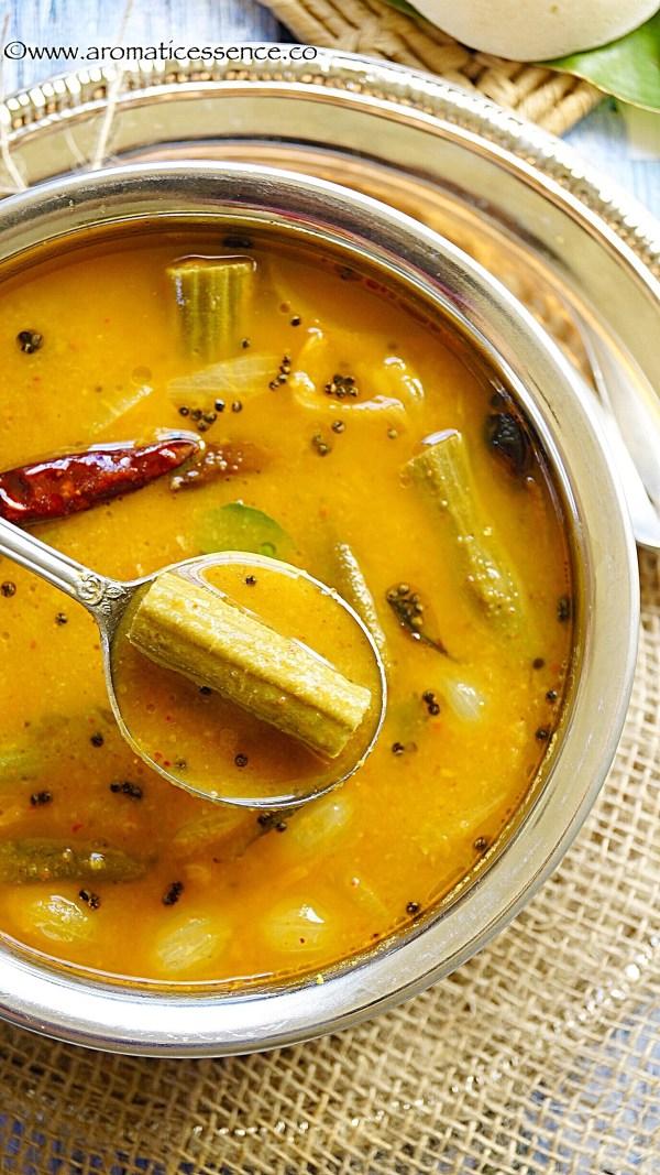 Sambhar | Sambar (South Indian lentil and vegetable stew)