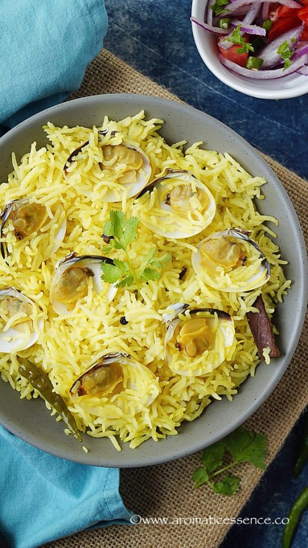 Goan Tisreo (Clam) Pulao/Pilaf