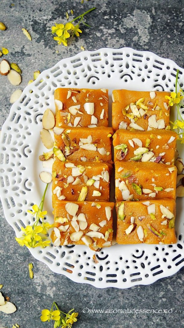 Mango Burfi Recipe With Khoya
