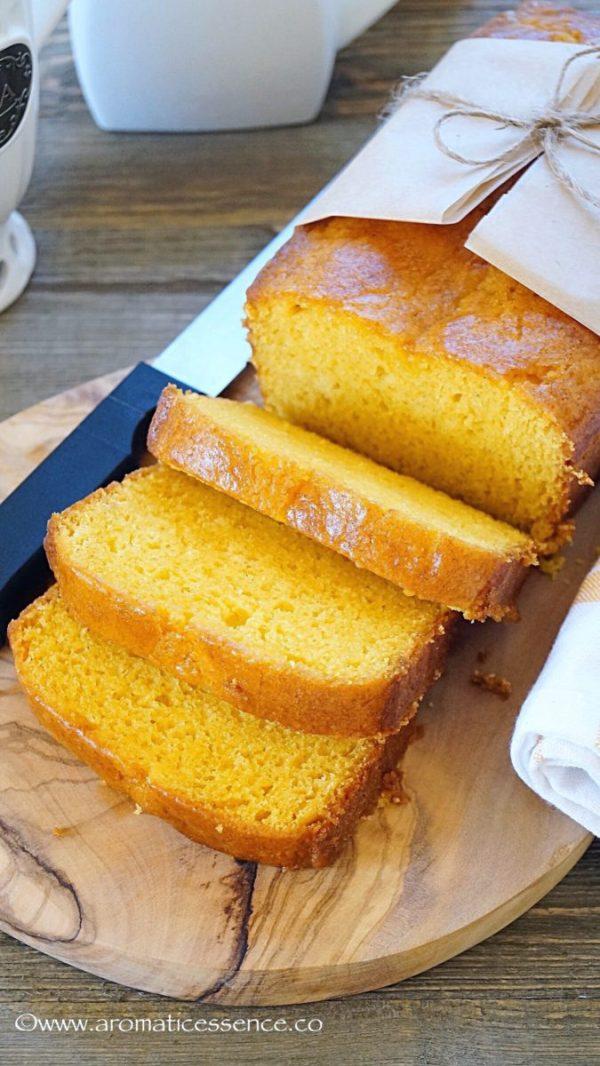 Egg-free Mango loaf cake   Eggless mango cake
