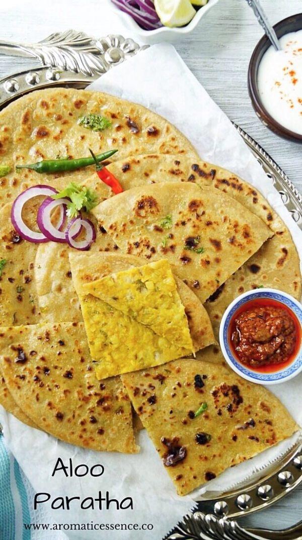 Aloo Paratha (Potato stuffed unleavened flatbread)