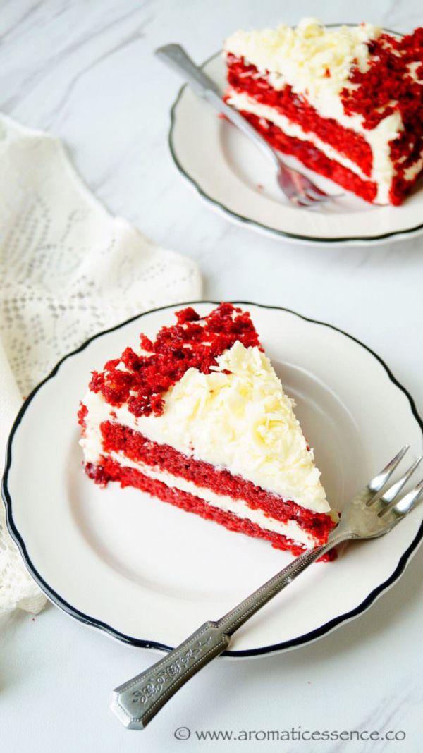 Eggless Red Velvet Cake With Buttermilk