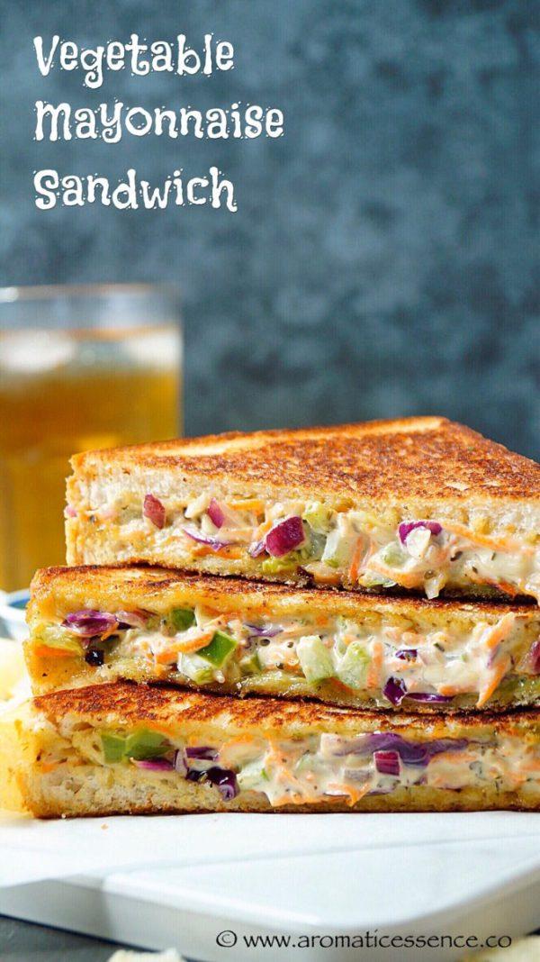 Veggie mayonnaise sandwich