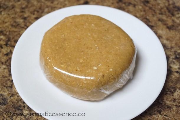 Flatten the dough into a disc