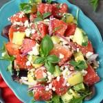 Watermelon Cucumber Feta Salad