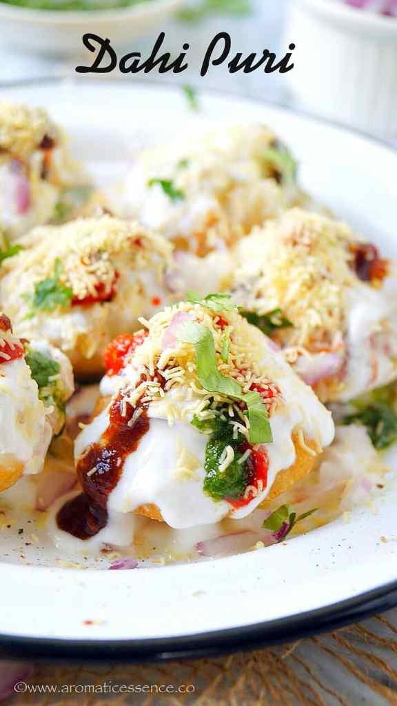 Dahi Puri Recipe   How To Make Dahi Puri