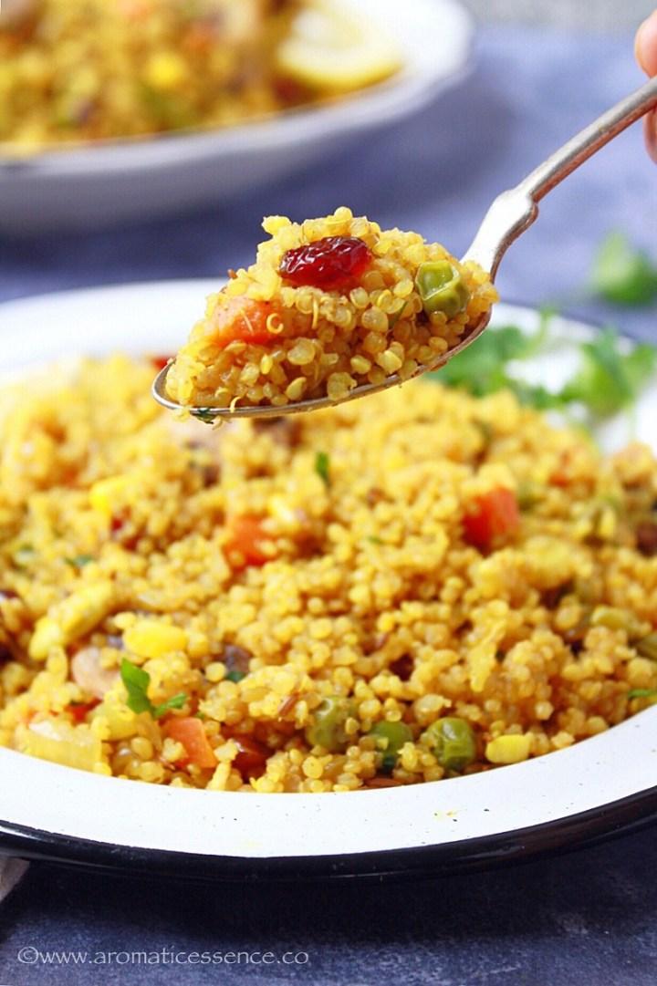 Quinoa Pulao | Instant Pot Quinoa Pilaf
