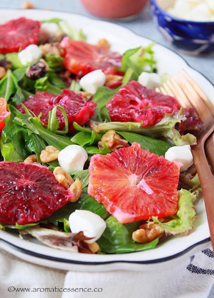 Blood Orange Salad With Blood Orange Vinaigrette