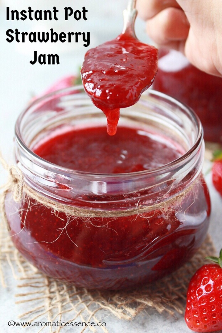Instant Pot Strawberry Jam Recipe {Without Pectin}