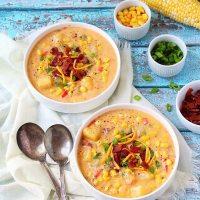 Instant Pot Corn Chowder Recipe | Potato Corn Chowder With Bacon