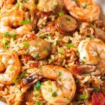 Close up shot of jambalaya