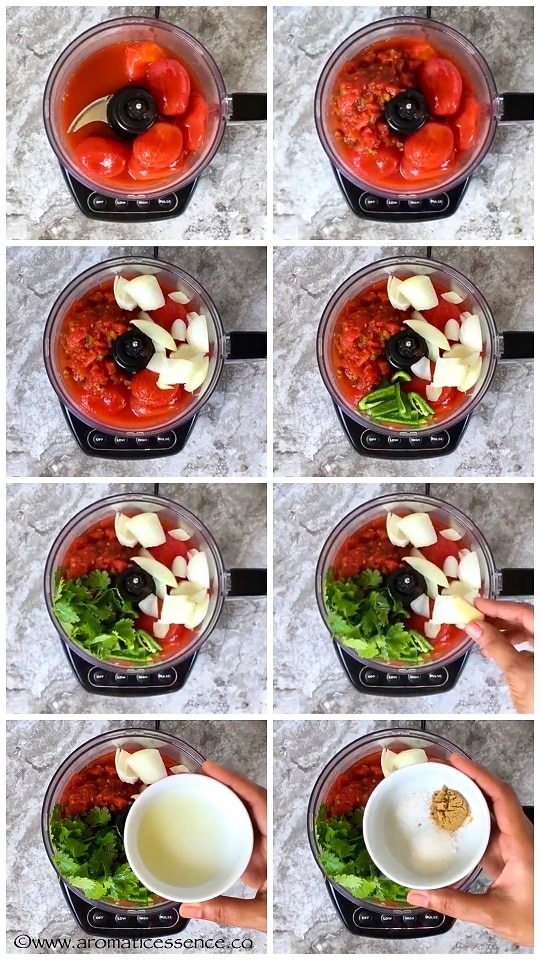 Add all the ingredients in a blender