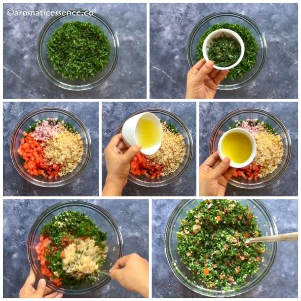Add all the ingredients in a big bowl