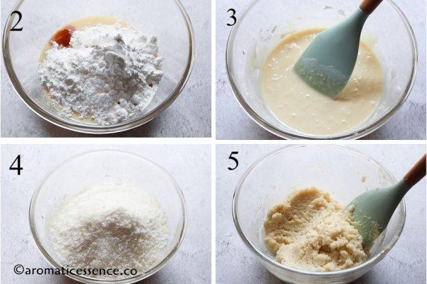 Prepare the white mixture