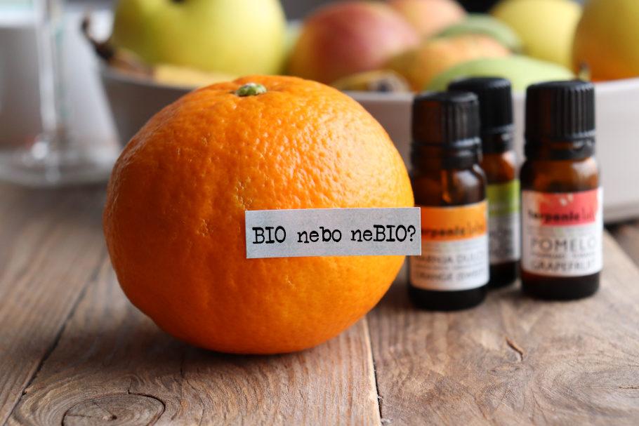 Citrusové esenciální oleje - rozdíl mezi BIO a neBIO
