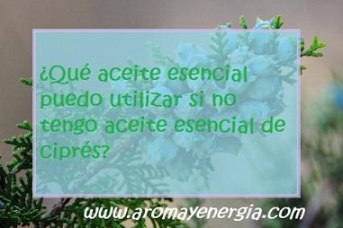 ¿Qué aceite esencial puedo utilizar …?