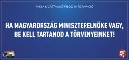 """""""Se sei il primo ministro ungherese devi rispettare la legge"""""""