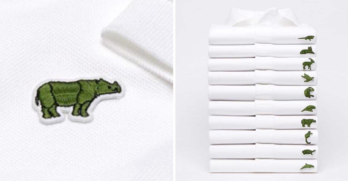 Lacoste change son crocodile pour 10 espèces en voie de disparition