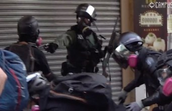 La police de Hong Kong a tiré contre un manifestant