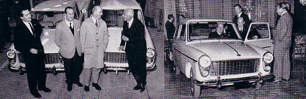 Launch day: A variety of Italian motoring luminaries were gathered for the launch of the Innocenti A40 in 1960. It was the least expensive car in its class – it had been carefully costed to ensure that it could be priced to compete with the ubiquitous Fiat 1100. (Photos: Graham Arnold)