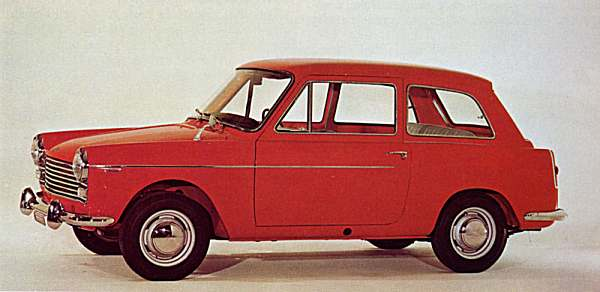 Italian-market Austin A40 looked almost identical to its UK cousin.