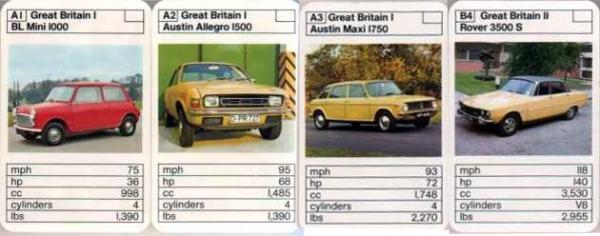 """This is from a """"British Cars vs. French Cars"""" pack from the early Seventies. The German registered Allegro is interesting for the fact that I can't imagine many Germans wanted the car.Also do you notice that the Allegro apparently weighs the same as the Mini???"""