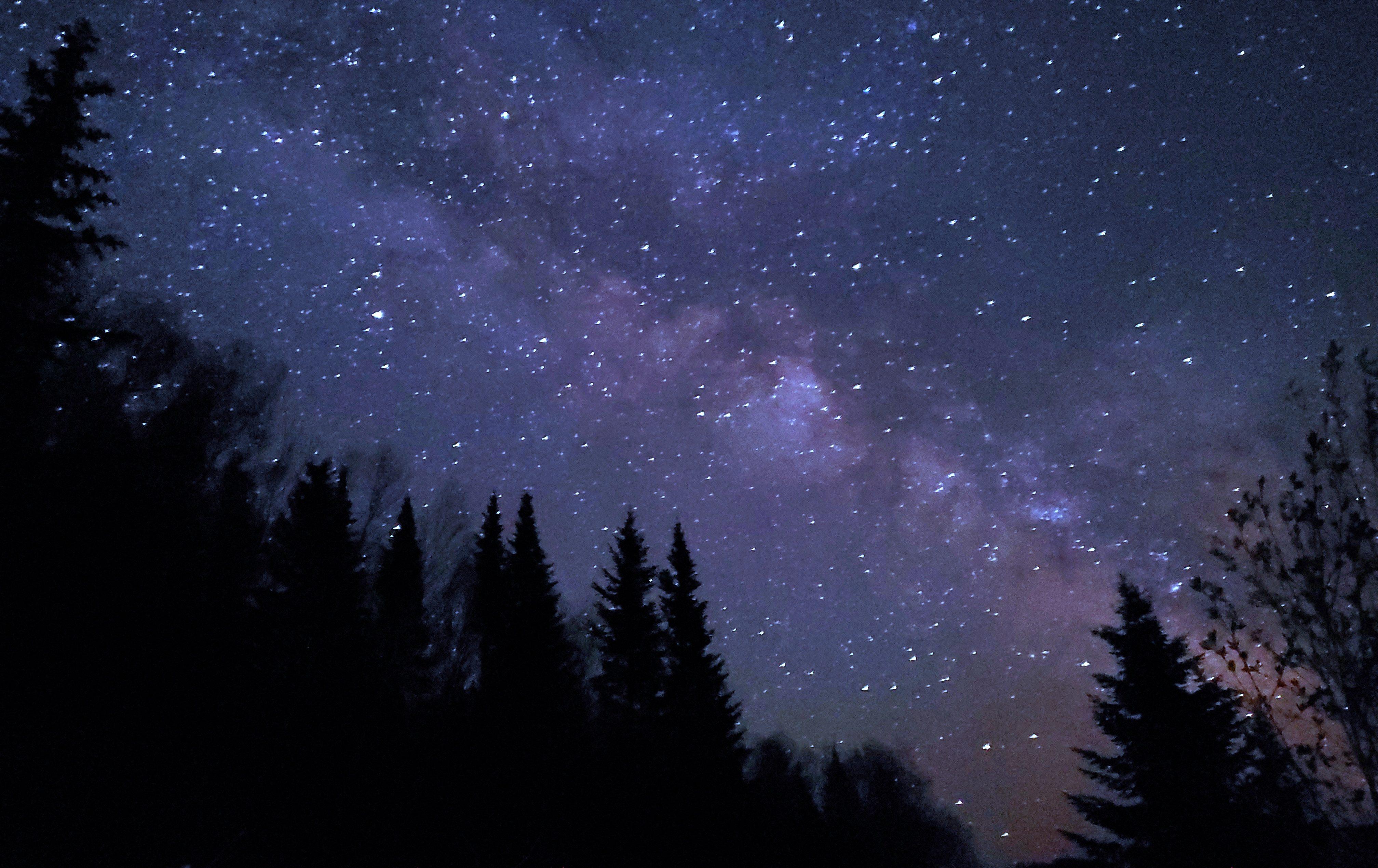 Milky Way Night Sky in Aroostook County