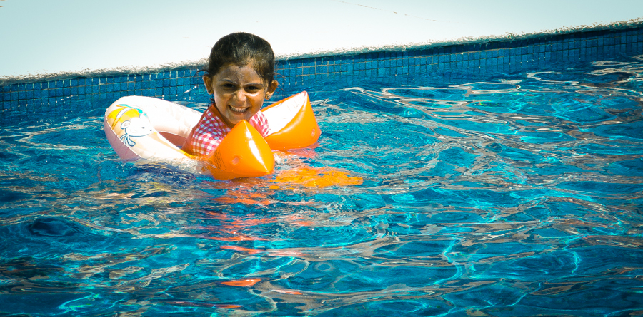 Shalini Playing In The Pool