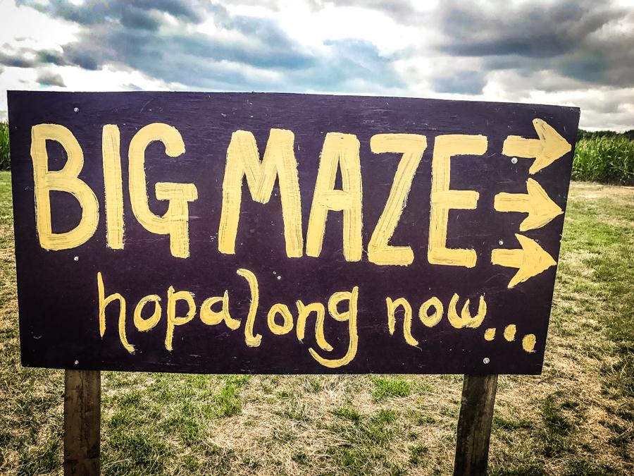 Living Arrows - Big Maze signboard