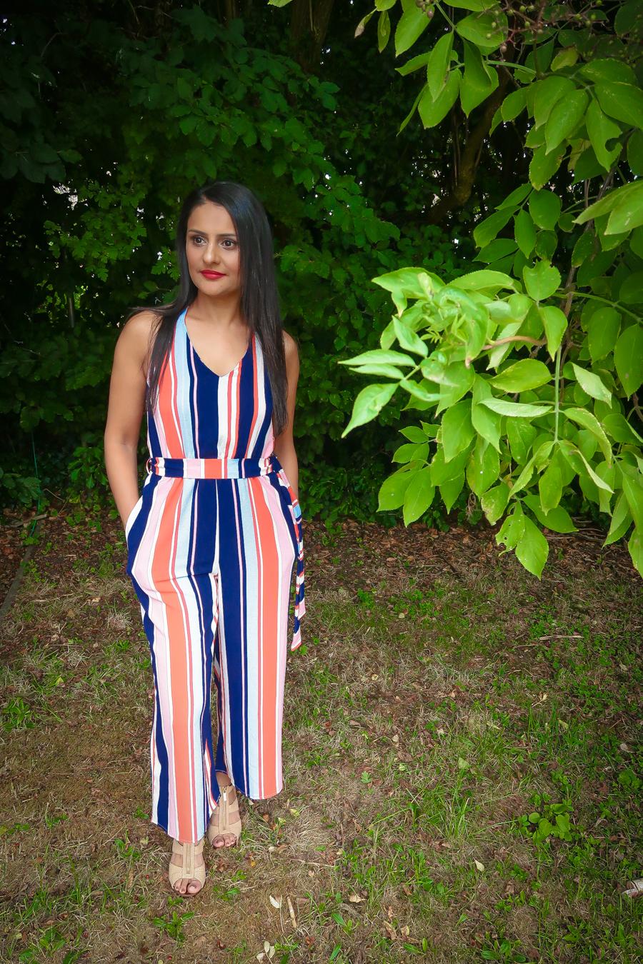 Summer Season - Quiz Stripes Jumpsuit