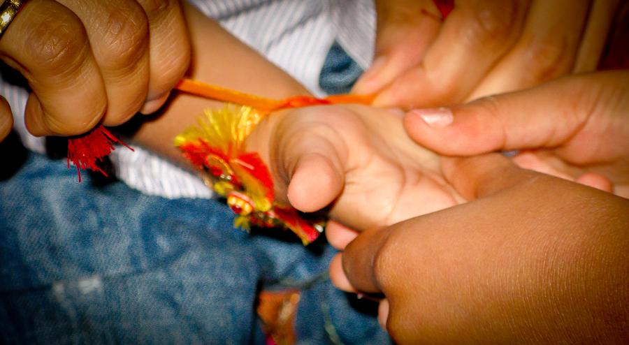 Brother-Sister Day - Shivam's Wrist Full Of Rakhris