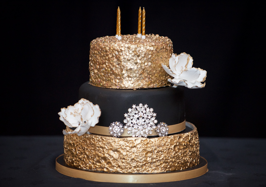 My Big Bash at 40 - My black and gold birthday cake