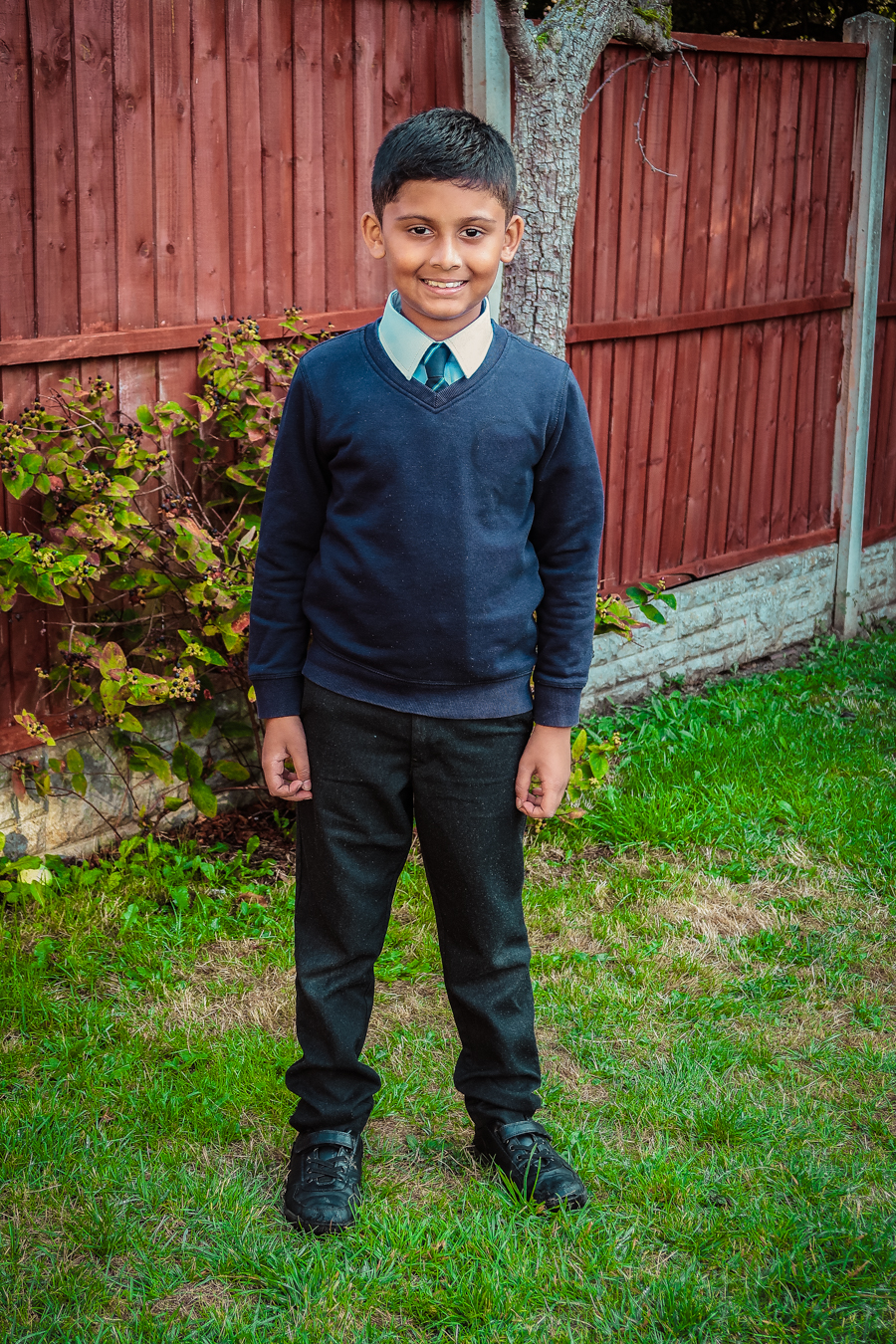 Back To School - Shivam In His Uniform
