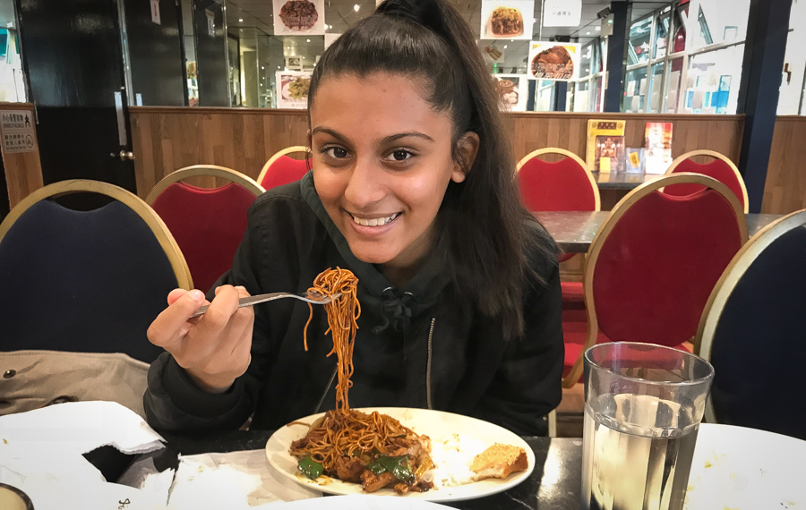 We Love Chinese - Shalini enjoys her chow mien