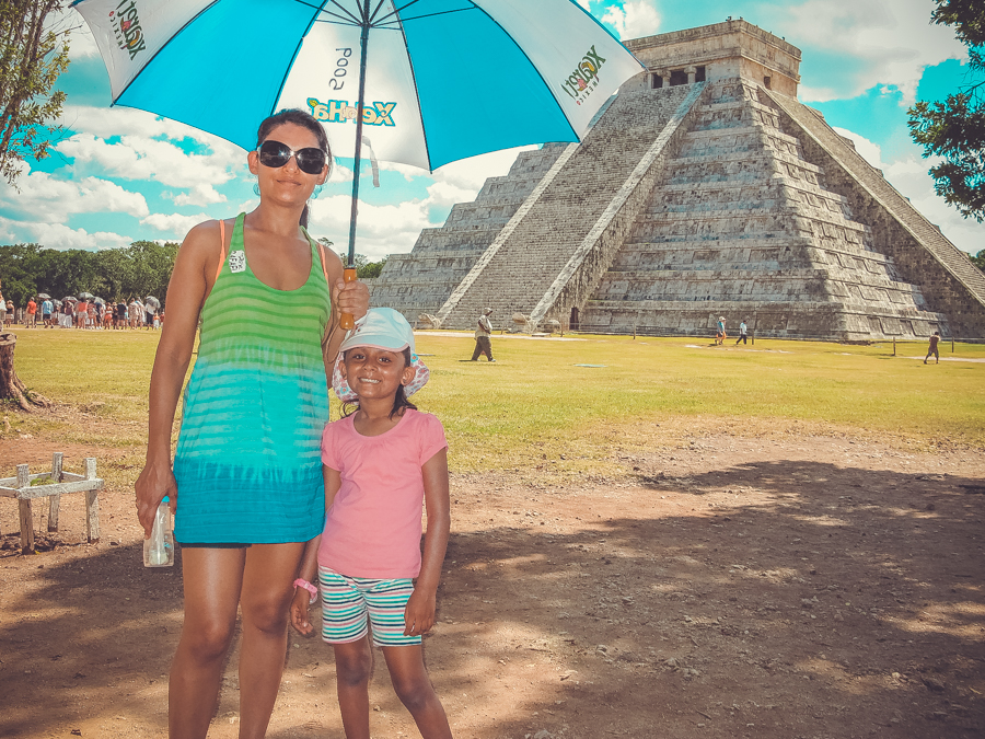 Holiday In Mexico - Me And Shalini At Chitchen Itza