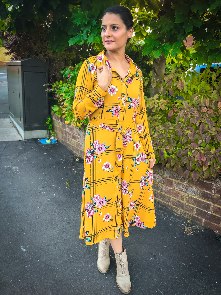 Out In The Wild - Yellow Shirt Dress
